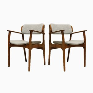 49 Armchairs by Erik Buch for O.D. Mobler AS, 1960s, Set of 2