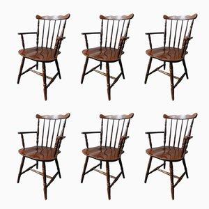 Polnische Armlehnstühle von Bely Furniture, 1960er, 6er Set