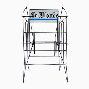 Soporte para periódicos vintage de metal de Le Monde