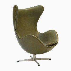 Grüner Egg Chair von Arne Jacobsen für Fritz Hansen, 1960er