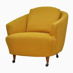 Poltrona Mid-Century gialla, anni '50