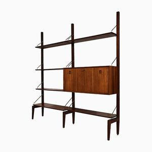Mid-Century Rosewood Modular Wall Unit by Louis van Teeffelen for TopForm, 1960s
