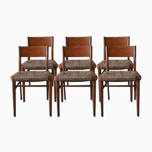 Danish Sycamore Dining Chairs by Georg Leowald for Wilkhahn, 1950s, Set of 6