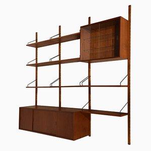 Mueble de pared modular Royal System danés de Poul Cadovius para Cado, años 60