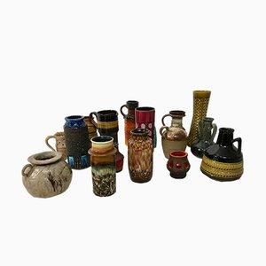 Swedish & German Ceramic Vases, 1960s, Set of 15