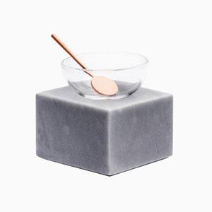 Cuenco Half Moon de vidrio y mármol de Elisa Ossino per Paola C.