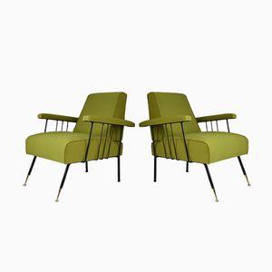 Italienische Armlehnstühle, 1950er, 2er Set