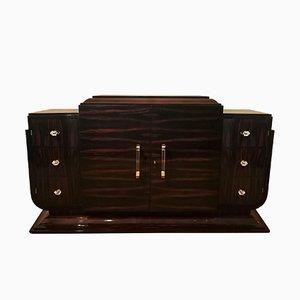 Art Deco Macassar Ebony Veneer Sideboard, 1930s
