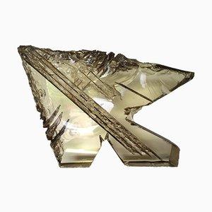 Escultura francesa de cristal tallado de Michel Mourlot & Liane Alibert, 1995