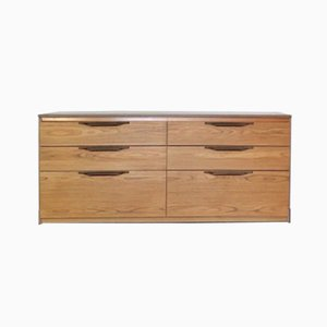 Mid-Century Slant Fronted Sideboard with Double Chest of Drawers