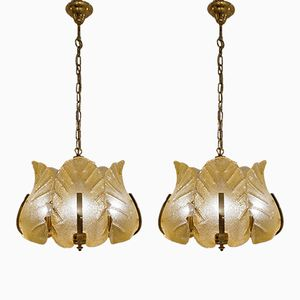 Swedish Ceiling Lamps by Carl Fagerlund for Orrefors, 1960s, Set of 2