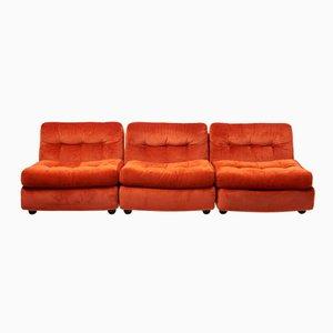 Vintage Amanta Velvet Moduar Sofa by Mario Bellini for C&B Italia