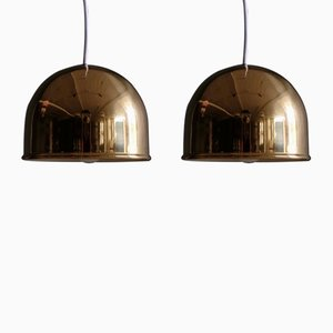 Brass Ceiling Lamps from Bergboms, 1960s, Set of 2
