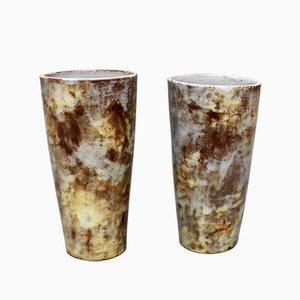 Vintage Ceramic Vases by Alexandre Kostanda, Set of 2