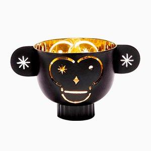 Messing Monkos Kerzenständer mit schwarzem Äußeren von Jaime Hayon für Paola C.