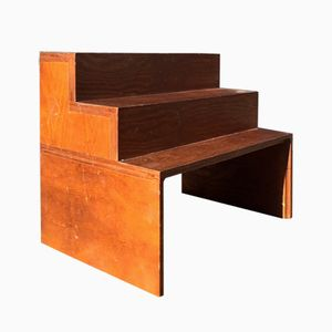 Danish Library Shelf Stairs in Teak, 1970s