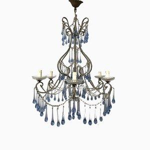 Vintage Crystal Beaded Chandelier