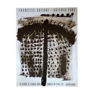 Poster di una mostra di Francesc Guitart, 1986