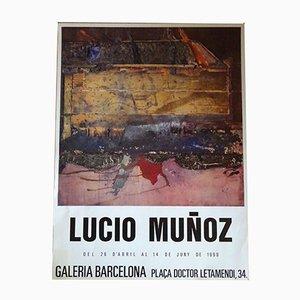 Poster della mostra di Lucio Muñoz, 1990