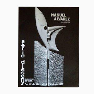 Poster della mostra di Manuel Álvarez, 1987