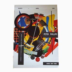 Affiche d'Exposition Peter Phillips, 1989