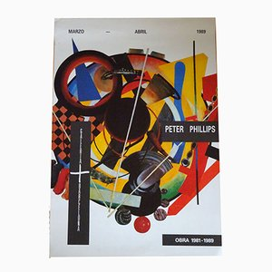 Póster de exhibición Peter Phillips, 1989