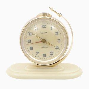 Reloj alarma Sputnik soviético de Slava, años 60