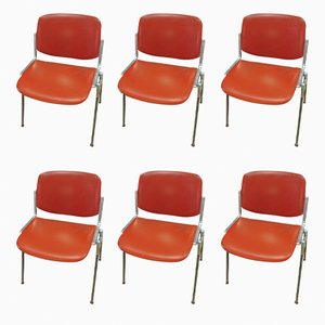 Chairs by Giancarlo Piretti for Castelli, 1970s, Set of 6