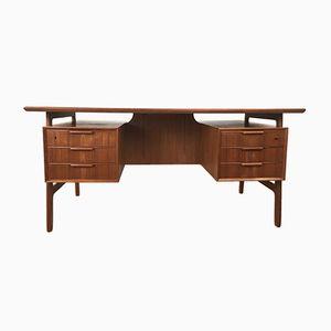 Modell 75 Teak Schreibtisch von Omann Jun, 1960er