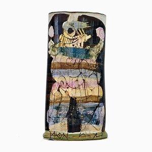Keramik Vase von Gilbert Portanier, 1981