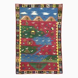 Tapis Qashqai Kilim Vintage, Perse, 1980s
