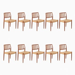 Model 83 Chairs by Niels Otto (N. O.) Møller for J.L. Møllers, Set of 10