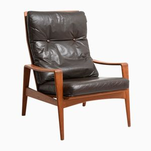 Teak High Back Easy Chair by Arne Wahl Iversen for Komfort, 1960s