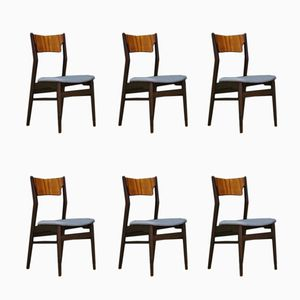 Vintage Danish Rosewood Chairs, Set of 6