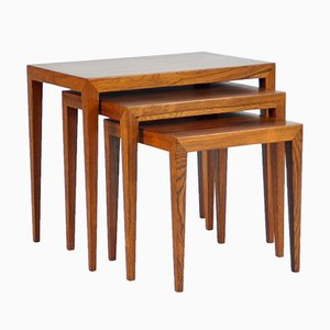 Rosewood Nesting Tables by Severin Hasen for Haslev Møbelsnedkeri