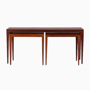 Rosewood Nesting Tables by Severin Hansen for Haslev Møbelsnedkeri, 1960s