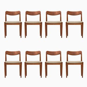 Vintage Dining Chairs by Johannes Andersen for Uldum Møbelfabrik, Set of 8