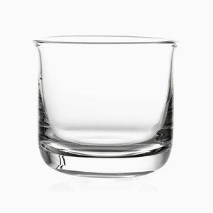 Vaso de whisky de vidrio transparente de Aldo Cibic para Paola C