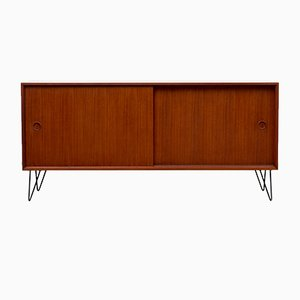 Teak Veneer Sideboard on Hairpin Legs, 1960s