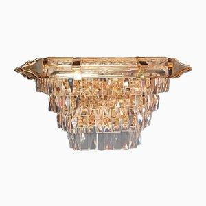 Aplique de pared vintage de cristal