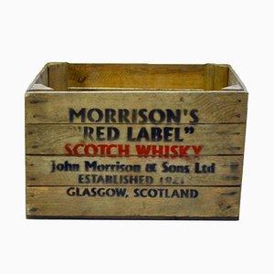 Cajas de whisky escocés vintage. Juego de 10