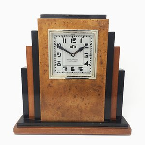 French Art Deco Table Clock with ATO Clockwork from Michelon Freres, 1930s