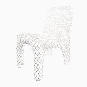 Sedia in ferro bianco di Chris Kabel