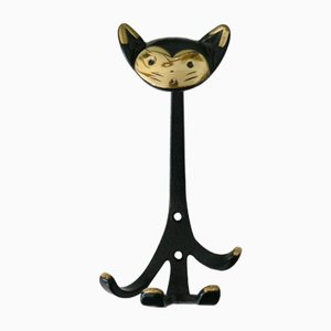 Wall Hook Depicting a Cat by Walter Bosse for Herta Baller, 1950s