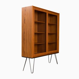 Teak Veneer Vitrine by Poul Hundevad for Hundevad & Co.
