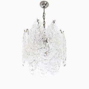 Lámpara de araña Ragnatela vintage de cristal de Murano de Mazzega