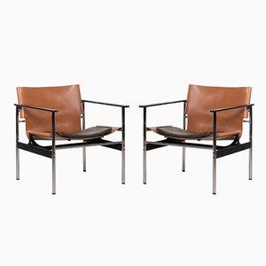 Modell 657 Armlehnstühle von Charles Pollock für Knoll International, 1970er, 2er Set