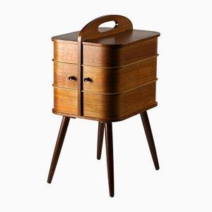 Caja para costura danesa de teca, años 60