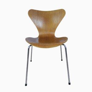 3107 Teak Stuhl von Arne Jacobsen für Fritz Hansen, 1980er
