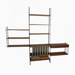 Vintage Teak Wall Unit by Nisse Strinning for String, 1950s